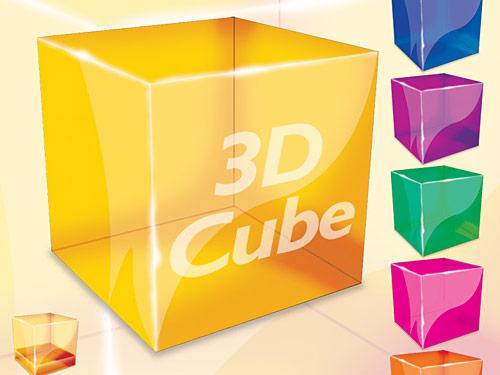 3 D キューブの PSD ファイル