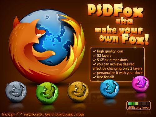 PSD Firefox アイコン