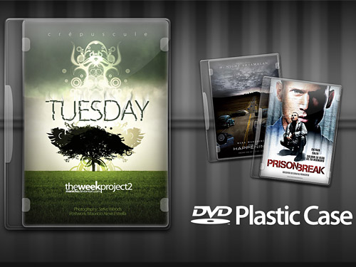 DVD プラスチック ケース PSD ファイル