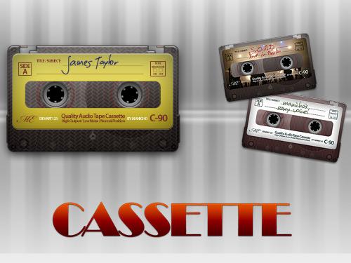 PSD のオーディオ カセット