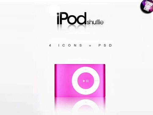 iPod シャッフル – 4 の PSD アイコン