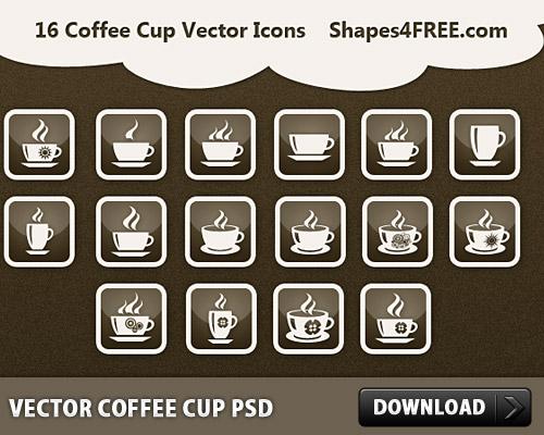 コーヒー カップ PSD をベクトルします。