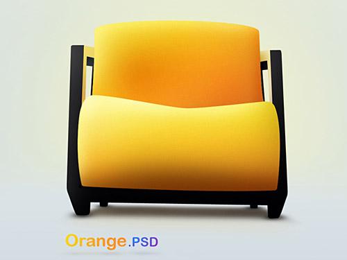 オレンジ PSD ファイル