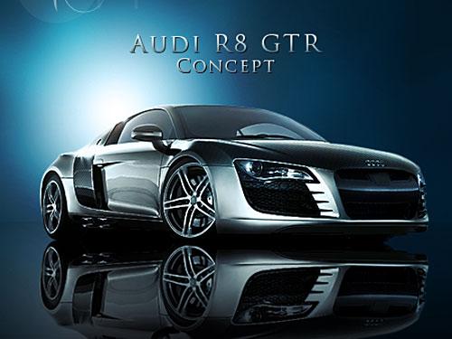 アウディ R8 GTR PSD ファイル