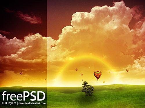 Amanecer 無料の PSD