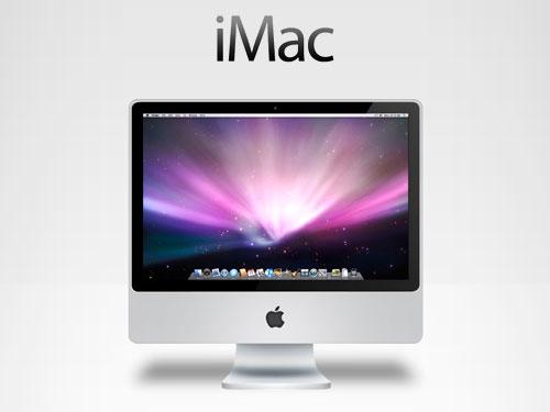 iMac PSD ソースファイル