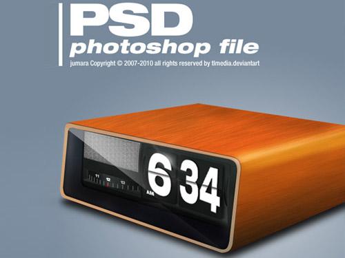 無料レトロ時計 PSD
