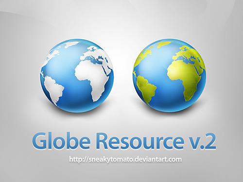 グローブ リソース v2 無料 psd ファイル