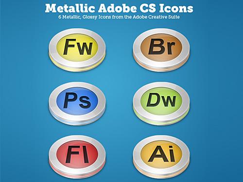 光沢のある金属 CS アイコン PSD