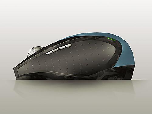 PSD の現実的なコンピューターのマウス