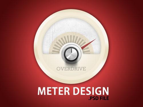 メーター デザインの PSD ファイル