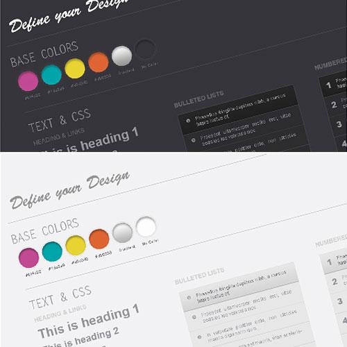 Web デザインのワイヤー フレーム キット PSD