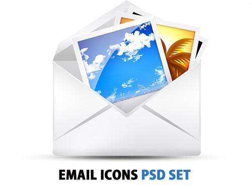 PSD の無料の電子メールのアイコンを設定