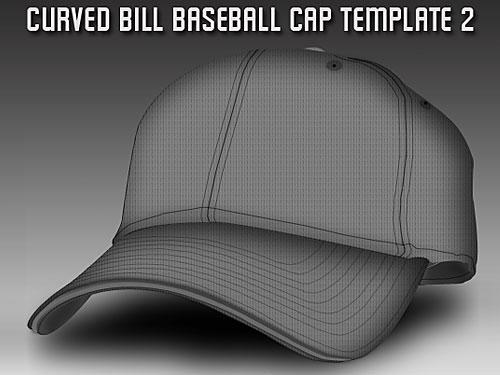 野球キャップ テンプレート psd ファイル