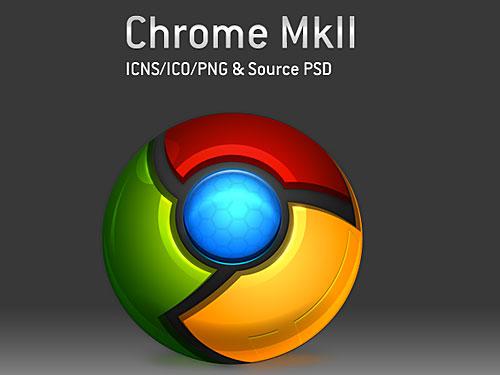 Google のクロム アイコン PSD