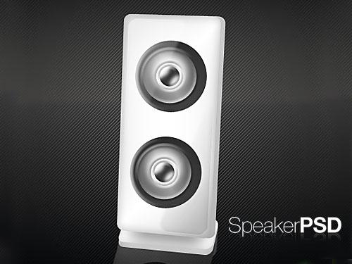 カスタマイズ可能なスピーカーの PSD アイコン
