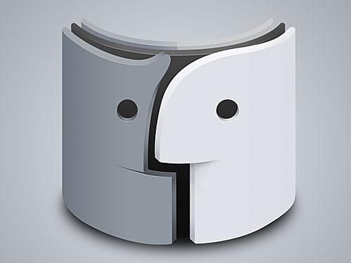 創造的な Mac のファインダー ・ アイコン PSD