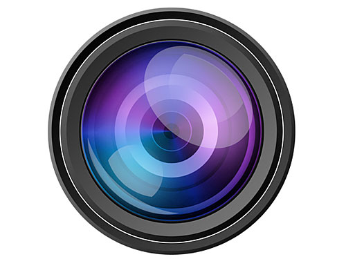 PSD カメラ レンズ アイコン