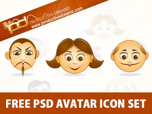 無料 PSD のアバター アイコンを設定
