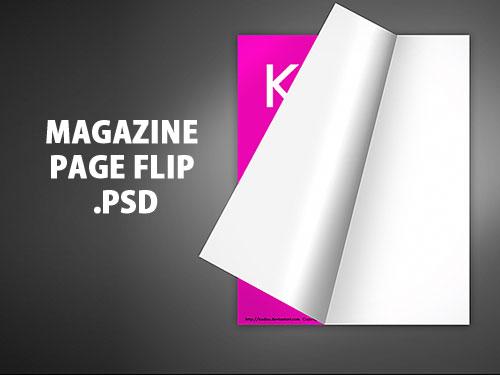 雑誌のページ フリップ PSD