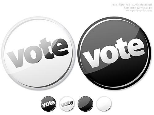 今すぐボタン PSD を投票します。