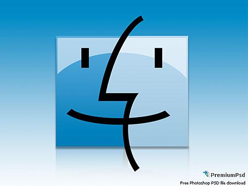 Mac のロゴのデザイン PSD