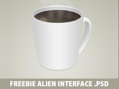 一杯のコーヒー無料 psd ファイル