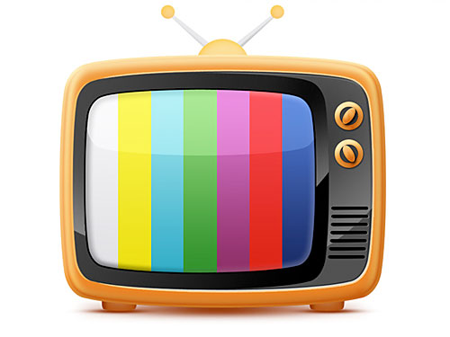 オールド スタイルのレトロなテレビ無料の psd ファイルのアイコン