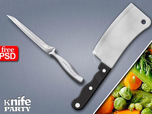 キッチン ナイフ無料 psd ファイル