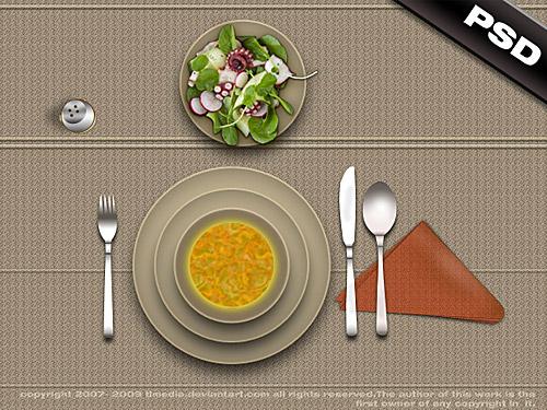 レストラン ランチ テーブル PSD