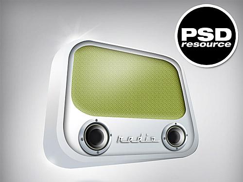 古いスタイルのラジオ PSD