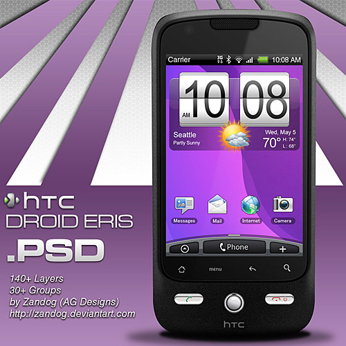 HTC はエリスをスマート フォン PSD