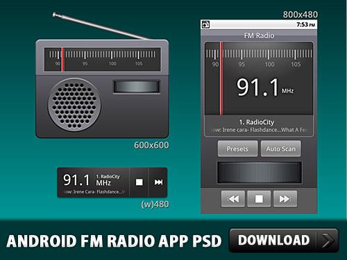 Android の FM ラジオ アプリケーション PSD
