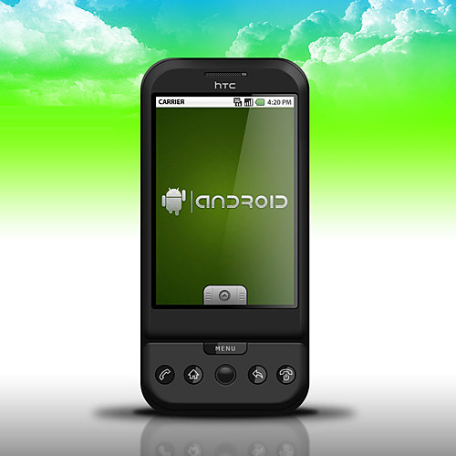 HTC G1 夢スマート フォン PSD