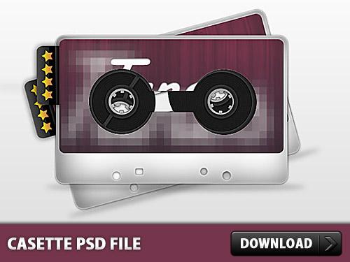 カセット PSD ファイル