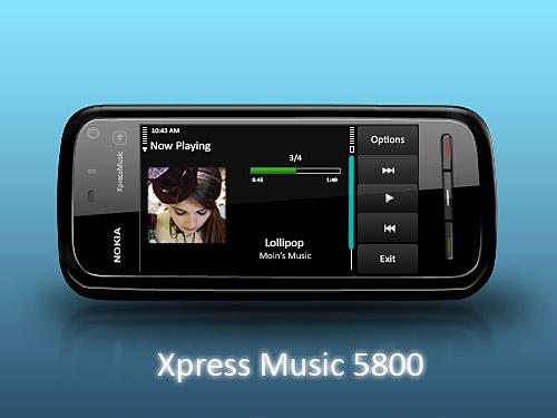 ノキア 5800 Xpress の音楽 PSD