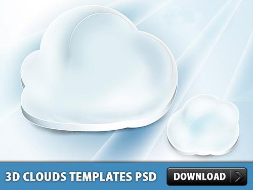 雲テンプレート psd ファイル