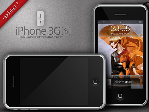 iPhone の 3 G マニア PSD