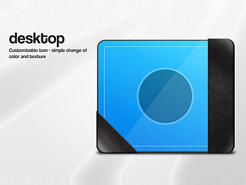 デスクトップ アイコンのグラフィックの PSD ファイル