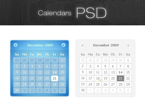 カレンダー PSD リソース ファイル