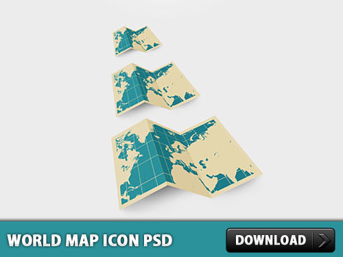 地図アイコン無料 psd ファイル