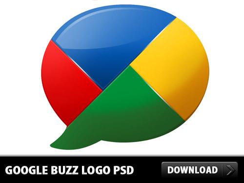 Google バズのロゴ psd ファイル