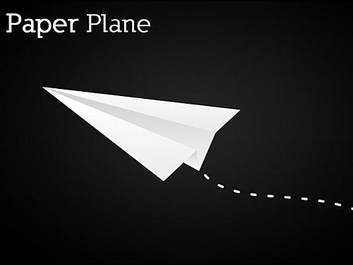 紙飛行機のアイコン PSD