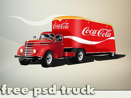コカ ・ コーラ トラック無料 psd ファイル