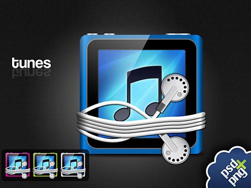 iTunes タッチ アイコン PSD