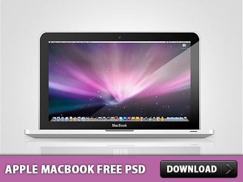 アップル MacBook 無料 psd ファイル