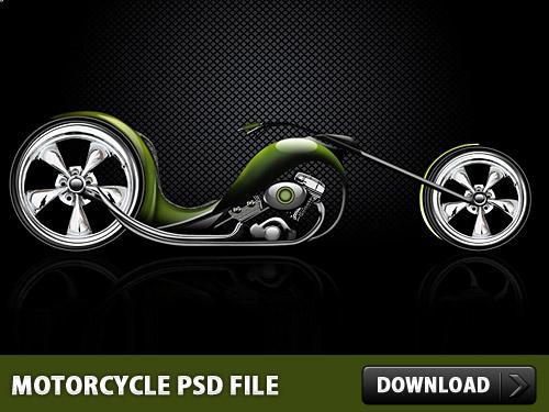 バイク無料 Photoshop の PSD ファイル