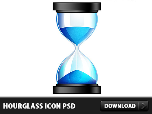 光沢のある砂時計アイコン無料 psd ファイル
