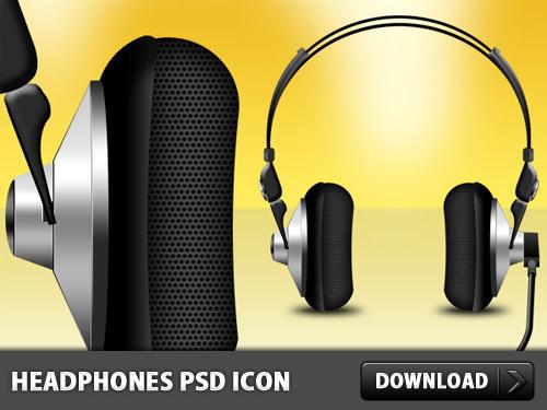ヘッドフォン無料 PSD アイコン