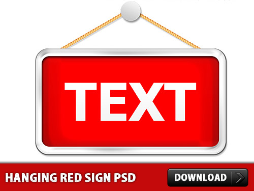 ハンギング赤署名テンプレート psd ファイル